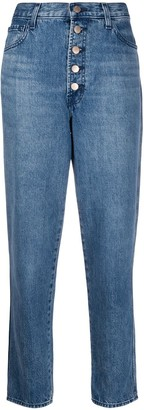 J Brand Heather high-rise straight leg jeans