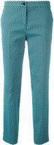 Etro jacquard cropped trousers - women - Cotton/Polyamide/Polyester/Spandex/Elastane - 46