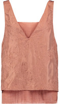 Bailey 44 Berber Layered Embroidered Silk-Voile Top