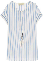 By Malene Birger Caroly Striped Cotton And Silk-Blend Voile Top