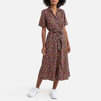 Only Midi Shirt Dress in Floral Print