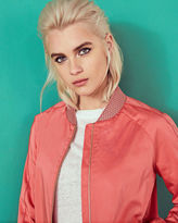 Ted Baker Scalloped trim bomber jacket