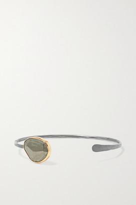 Melissa Joy Manning Sterling Silver 14-karat Gold Pyrite Cuff - one size