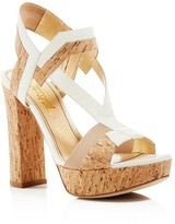 Jerome C. Rousseau Cohen Cork Platform High Heel Sandals