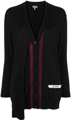 Loewe Draped Contrast Trim Cardigan