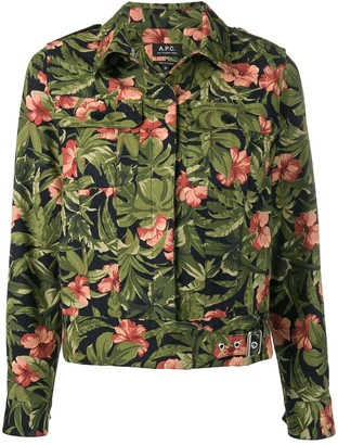 A.P.C. Flower Shirt Jacket