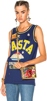 Dolce & Gabbana Pasta Tank Top in Blue,Yellow.