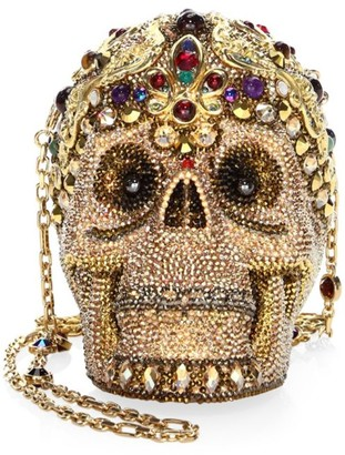 Judith Leiber Couture Sanctus Skull Crystal Clutch