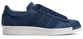 adidas Superstar 80s Textured-nubuck Sneakers