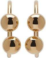 J.W.Anderson Gold Double Ball Earrings