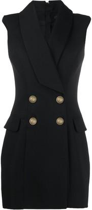 Balmain double-breasted sleeveless dress