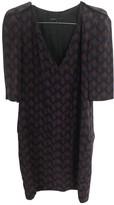 Maje Burgundy Silk Dresses