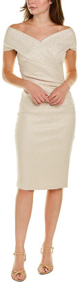 Teri Jon By Rickie Freeman Pleated Sheath Dress