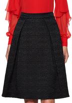 Prabal Gurung Silk Textured A Line Skirt