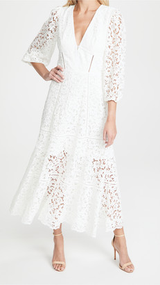 Jonathan Simkhai Puff Sleeve Midi Dress