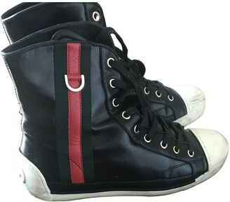 Gucci Black Patent leather Trainers