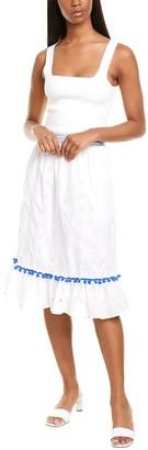 J.Crew Seychelles Eyelet Midi Skirt