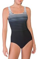 Reebok Ombre Striped One-Piece Swimsuit