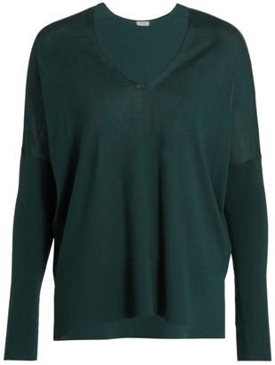 Akris Punto Oversized V-neck Wool Sweater