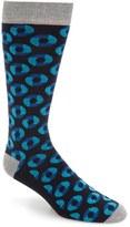 Ted Baker Men's Circle Pattern Organic Cotton Blend Socks