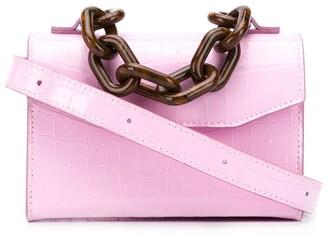 Ganni Belly croc belt bag