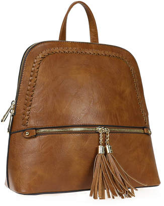 Alyssa Women's Backpacks LIGHT - Light Brown Braided Tassel Backpack