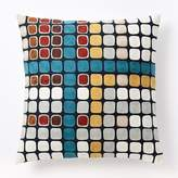 west elm Wallace Sewell Crewel Blocks on Blocks Pillow Cover