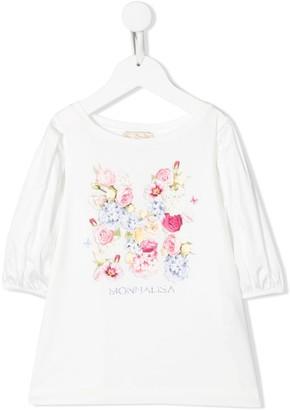 MonnaLisa Floral Print Jersey Top