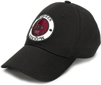 Alexander McQueen skull logo patch baseball cap