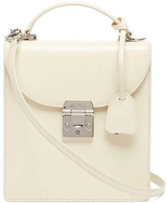 Mark Cross Uptown Leather Box Bag - Womens - White
