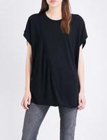 Maison Margiela Asymmetric cotton-jersey top