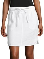 Lord & Taylor Petite Solid Linen Skirt