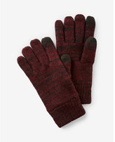 Express plaited wool-blend touchscreen compatible gloves