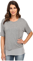 Heather Silk Lined Tee