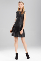 Josie Natori Faux Leather Dress