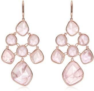 Monica Vinader Siren Chandelier Rose Quartz earrings