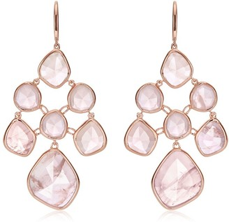 Monica Vinader Siren Chandelier Rose Quartz earrings