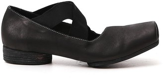 UMA WANG Square-Toe Strap-Detailed Ballerina Flats