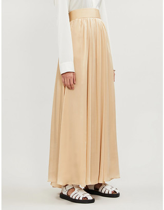 Zimmermann Super Eight high-waist silk-crepe de chine maxi skirt