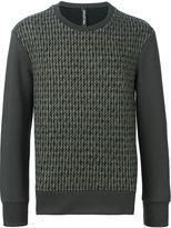 Neil Barrett tweed front sweatshirt
