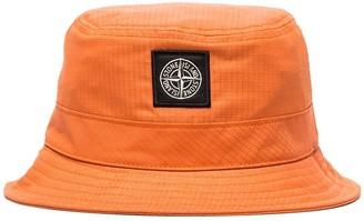 Stone Island reflective logo patch bucket hat