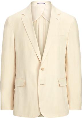 Ralph Lauren Hadley Silk-Linen Suit Jacket