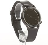 Komono 'Winston' Quartz Stainless Steel and Leather Dress Watch, Color:Black (Model: KOM-W2890)