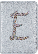 Accessorize Glitter E Alphabet Passport Holder