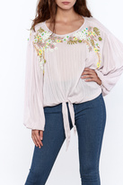 Free People Blush Embroidered Blouse