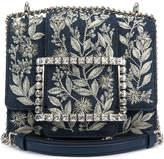 Roger Vivier Tres Vivier Floral Embroidered Shoulder Bag
