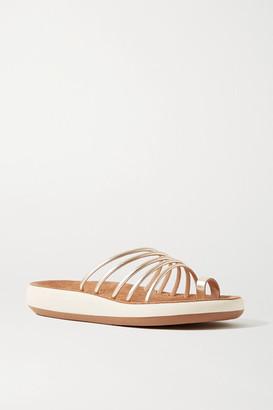 Ancient Greek Sandals Hypatia Metallic Leather Sandals