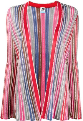 M Missoni Textured Striped Knit Cardigan