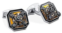 Tateossian Diablo Octagonal Gear Cufflinks