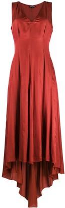Ann Demeulemeester V-neck raw-cut edge dress